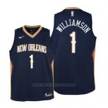 Camiseta Nino New Orleans Pelicans Zion Williamson #1 Icon 2019 Azul