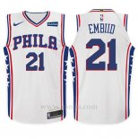 Camiseta Nino Philadelphia 76ers Joel Embiid #21 Association 2017 18 Blanco