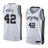 Camiseta San Antonio Spurs Jakob Poeltl #42 Association 2018 Blanco