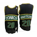 Camiseta Seattle SuperSonics Gary Payton #20 Mitchell & Ness 1994-95 Negro