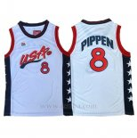Camiseta USA 1996 Scottie Pippen #8 Blanco