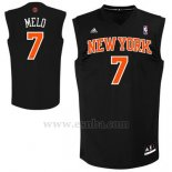 Camiseta Apodo New York Knicks Melo #7 Negro