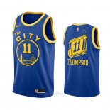 Camiseta Golden State Warriors Klay Thompson #11 Hardwood Classics 2020-21 Azul