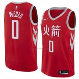 Camiseta Houston Rockets Briante Weber #0 Ciudad 2018 Rojo