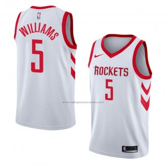 Camiseta Houston Rockets Troy Williams #5 Association 2018 Blanco