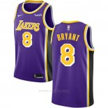 Camiseta Los Angeles Lakers Kobe Bryant #8 Statement Violeta