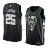 Camiseta Milwaukee Bucks Deandre Liggins #25 Statement 2018 Negro