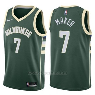 Camiseta Milwaukee Bucks Thon Maker #7 Swingman Icon 2017-18 Verde