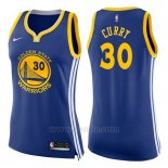 Camiseta Mujer Golden State Warriors Stephen Curry #30 Icon 2017-18 Azul