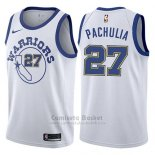 Camiseta Mujer Golden State Warriors Zaza Pachuliablanco Hardwood Classic #27 2017-18 Blanco