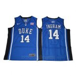Camiseta NCAA Duke Blue Devils Brandon Ingram #14 Azul