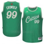 Camiseta Navidad 2015 Boston Celtics Jae Crowder #99 Verde