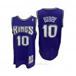Camiseta Sacramento Kings Mike Bibby #10 Mitchell & Ness 2001-02 Violeta