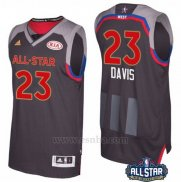 Camiseta All Star 2017 New Orleans Pelicans Anthony Davis #23 Negro