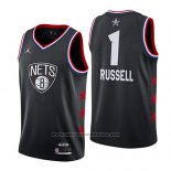 Camiseta All Star 2019 Brooklyn Nets Dangelo Russell #1 Negro
