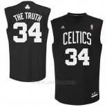 Camiseta Apodo Boston Celtics The Truth #34 Negro