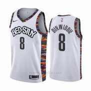 Camiseta Brooklyn Nets Spencer Dinwiddie #8 Ciudad Blanco