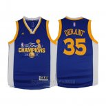 Camiseta Campeon Final Golden State Warriors Kevin Durant #35 2017 Azul