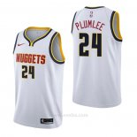 Camiseta Denver Nuggets Mason Plumlee #24 Association Blanco