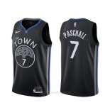 Camiseta Golden State Warriors Eric Paschall #7 Ciudad 2019-20 Negro