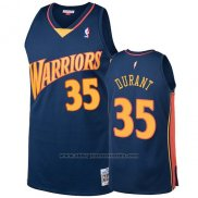 Camiseta Golden State Warriors Kevin Durant 2009-10 Hardwood Classics Azul