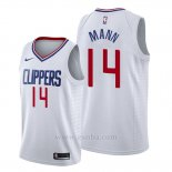 Camiseta Los Angeles Clippers Terance Mann #14 Association 2019-20 Blanco
