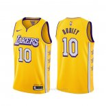 Camiseta Los Angeles Lakers Jared Dudley #10 Ciudad 2019-20 Amarillo