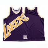 Camiseta Los Angeles Lakers Mitchell & Ness Big Face Violeta