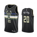 Camiseta Milwaukee Bucks Marvin Williams #20 Statement 2020-21 Negro