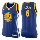 Camiseta Mujer Golden State Warriors Nick Young Icon #6 2017-18 Azul