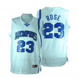 Camiseta NCAA Memphis Tigers Derrick Rose #23 Blanco