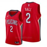 Camiseta New Orleans Pelicans Lonzo Ball #2 Statement Rojo