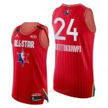 Camiseta All Star 2020 Milwaukee Bucks Giannis Antetokounmpo Autentico #24 Rojo