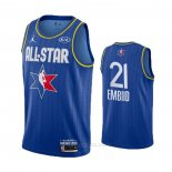Camiseta All Star 2020 Philadelphia 76ers Joel Embiid #21 Azul