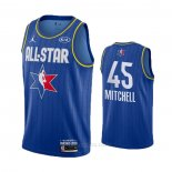 Camiseta All Star 2020 Utah Jazz Donovan Mitchell #45 Azul