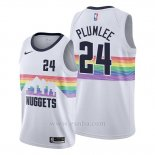 Camiseta Denver Nuggets Mason Plumlee #24 Ciudad Edition Blanco