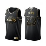 Camiseta Golden Edition Los Angeles Lakers Lebron James Negro