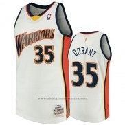 Camiseta Golden State Warriors Kevin Durant 2009-10 Hardwood Classics Blanco