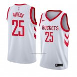 Camiseta Houston Rockets Austin Rivers #25 Association 2018 Blanco