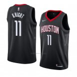 Camiseta Houston Rockets Brandon Knight #11 Statement 2017-18 Negro