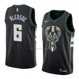 Camiseta Milwaukee Bucks Eric Bledsoe #6 Statement 2018 Negro