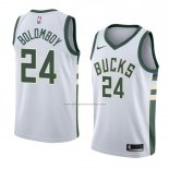 Camiseta Milwaukee Bucks Joel Bolomboy #24 Association 2018 Blanco