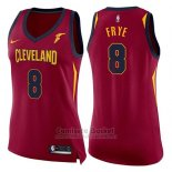 Camiseta Mujer Cleveland Cavaliers Channing Frye Icon #8 2017-18 Rojo