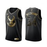Camiseta Golden Edition Milwaukee Bucks Giannis Antetokounmpo Negro