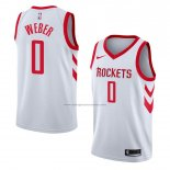 Camiseta Houston Rockets Briante Weber #0 Association 2018 Blanco