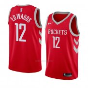 Camiseta Houston Rockets Vincent Edwards #12 Icon 2018 Rojo