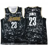 Camiseta Luces De La Ciudad Los Angeles Lakers LeBron James #23 Negro