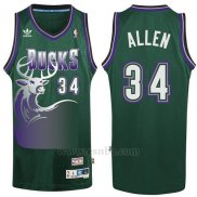 Camiseta Milwaukee Bucks Allen #34 Retro Verde