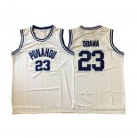 Camiseta NCAA Punahou Barack Obama #23 Blanco