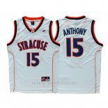 Camiseta NCAA Syracuse Orange Carmelo Anthony #15 Blanco